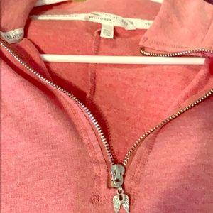 VS pink half zip tunic